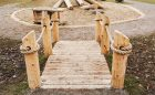 Hamilton childcare wood bridge log climber