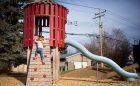 Mills Park Calgary playground water tower