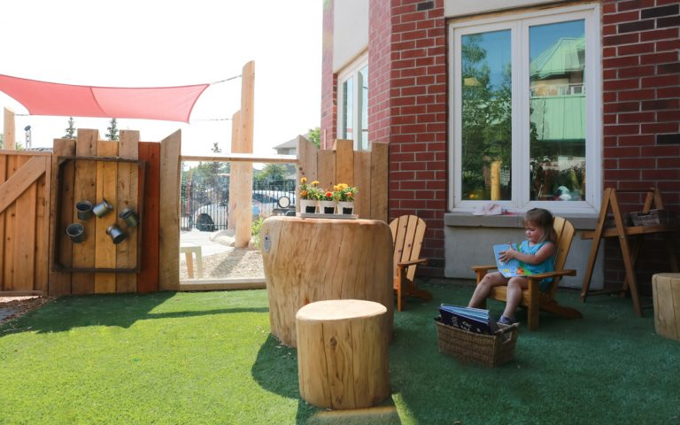 seating playground natural wood outdoor childcare