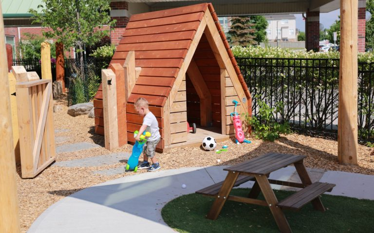 sensory play playground outdoor childcare hut