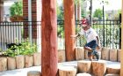 wood climber active motor playground natural