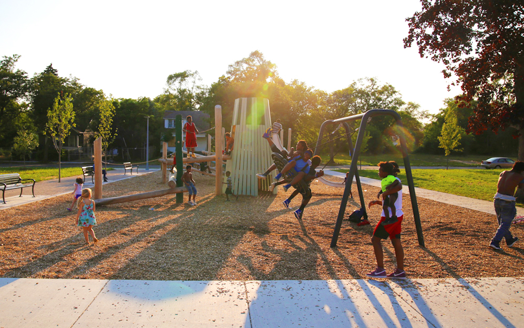 detroit playground fitzgerald playspace outdoor play