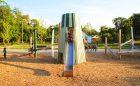 sculpture slide playground ella fitzgerald park outdoor play space