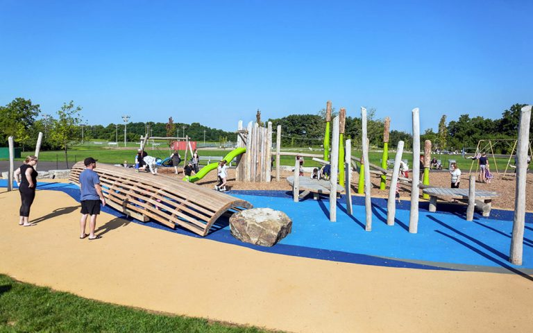 William Connell custom natural timber playground