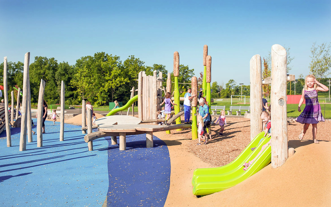 William Connell custom timber playground