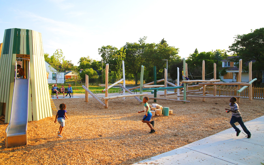 active playground inclusive natural ella fitzgerald park detroit