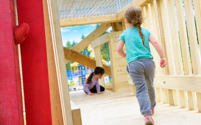 aldergrove recreation centre BC tower bridge playground wood