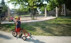 child care pathway accessible track tricycle motor play