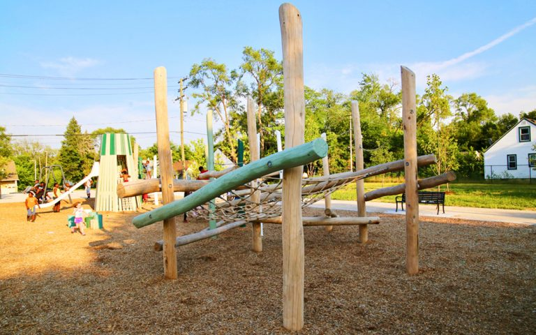 ella fitzgerald park log jam wood playground