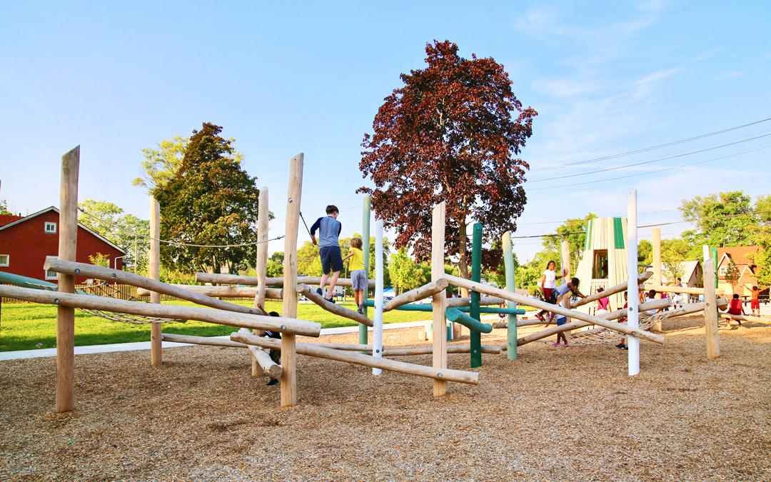 log jam wood robinia timber playground logs play outdoor