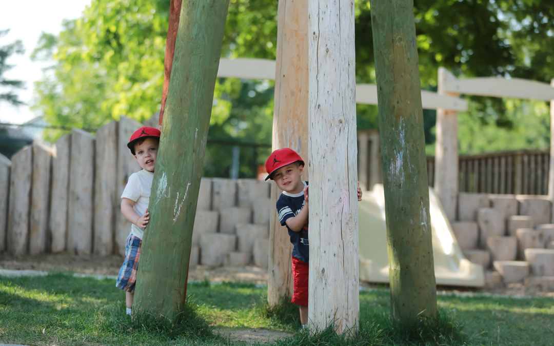 play posts colour hide natural playground