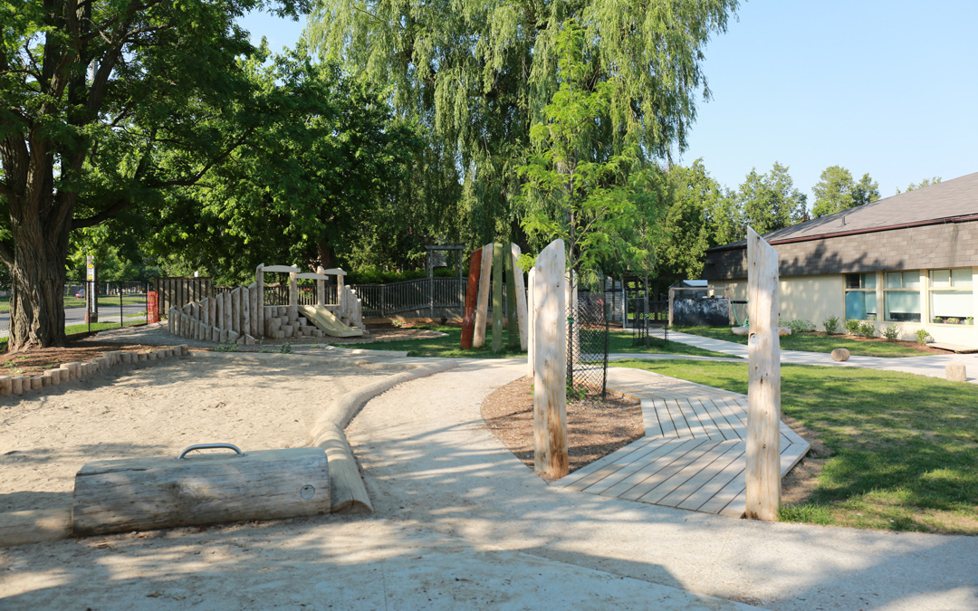 playground pathway natural custom sand