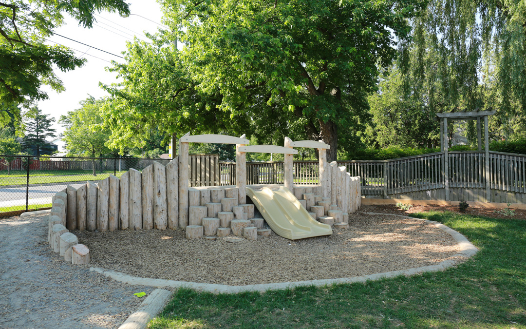 playground play child care outdoor space climbing