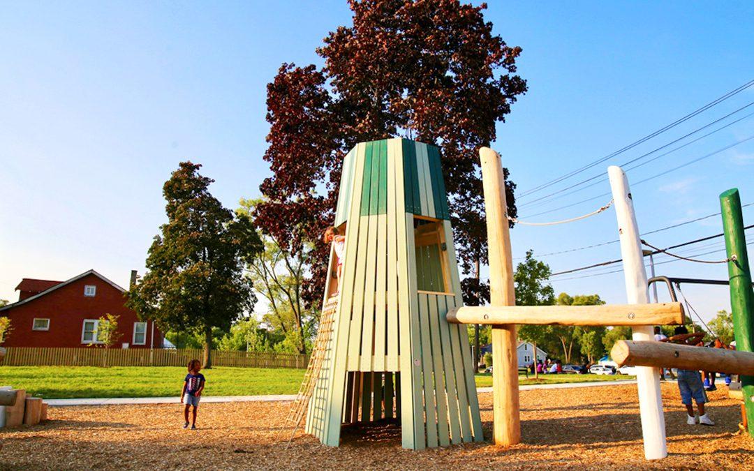 playground themed sculpture ella fitzgerald park