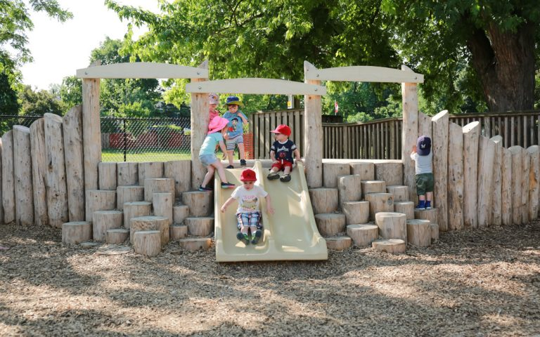 slide play custom natural playground