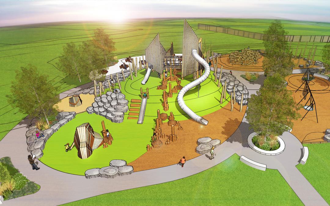 wanuskewin saskatoon playground towers logs climbing