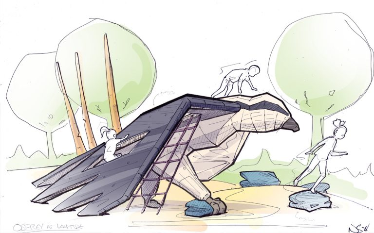 osprey bird playground concept sketch wood nets climbing play nonprescriptive sculpture play osprey bird playground concept sketch wood nets climbing play nonprescriptive sculpture play