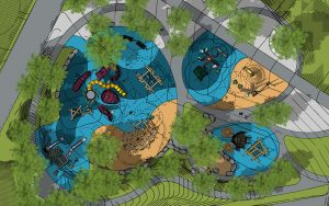 St Petersburg Pier playground plan natural adventure themed play