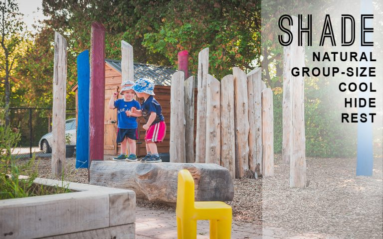 elements of play shade and rest areas child care centre