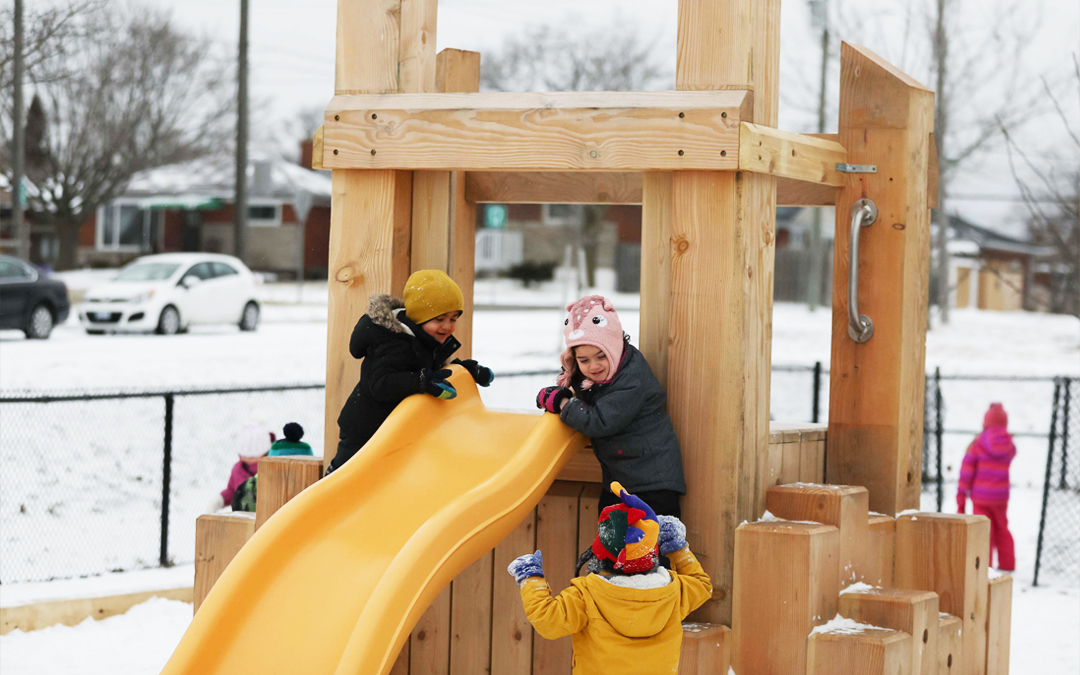 todays family franklin childcare hamilton ontario wood playground slide franklin road