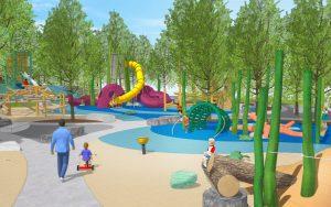 St Petes Pier natural beach themed playground kraken tower