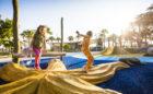 Florida destination playground starfish robinia log climber ropes hill slide