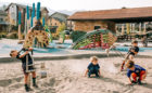 River Park Breckenridge sand play accessible natural playground fish sculpture