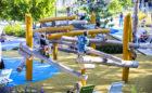 St. Pete Pier destination playground osprey nest robinia log jam climber