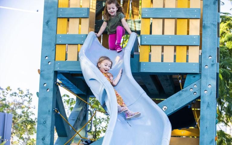 St. Pete Pier Florida destination playground lifeguard tower slide wood