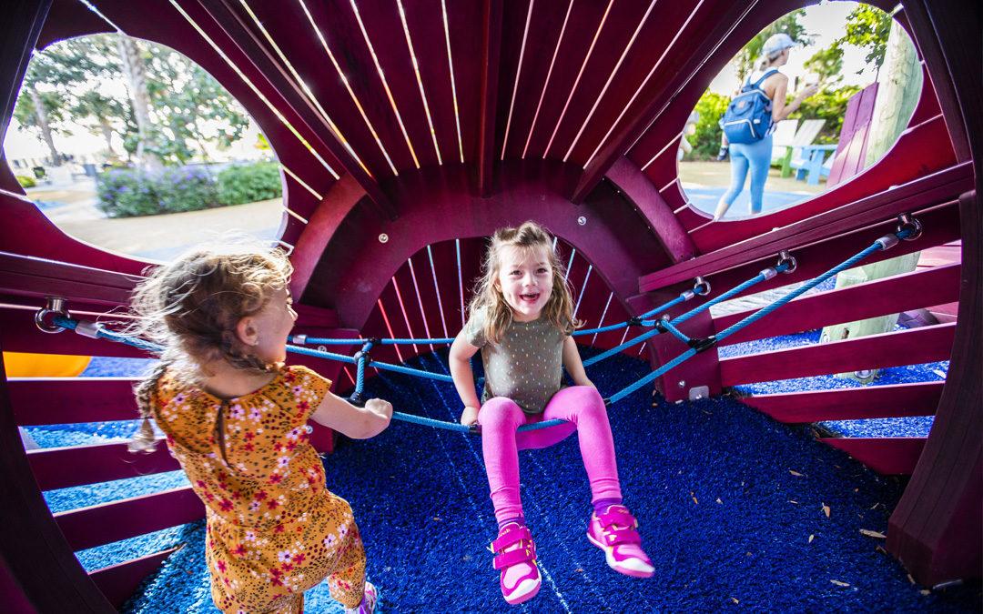 St. Petersburg Pier destination natural playground kraken sculpture net hangout climbing