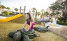 St. Petersburg Pier Florida destination playground turtle carving hill slide