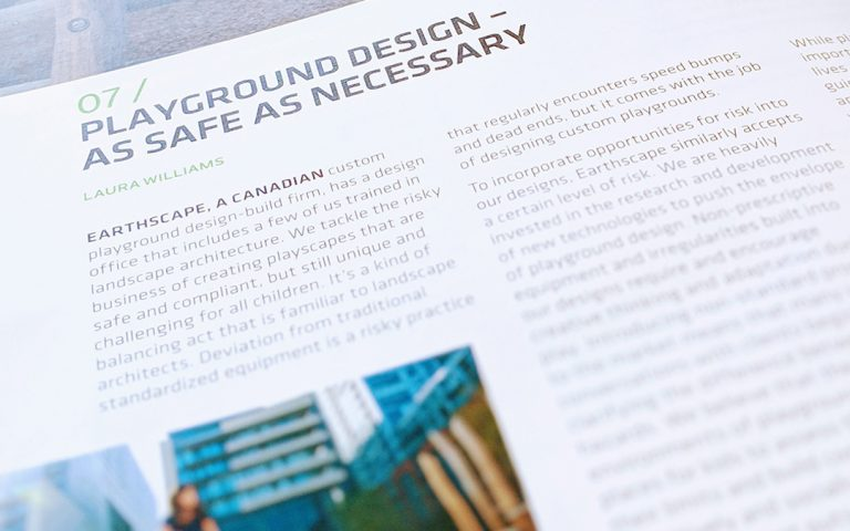 Landscape Paysages Laura Williams Playground Design Article risky play