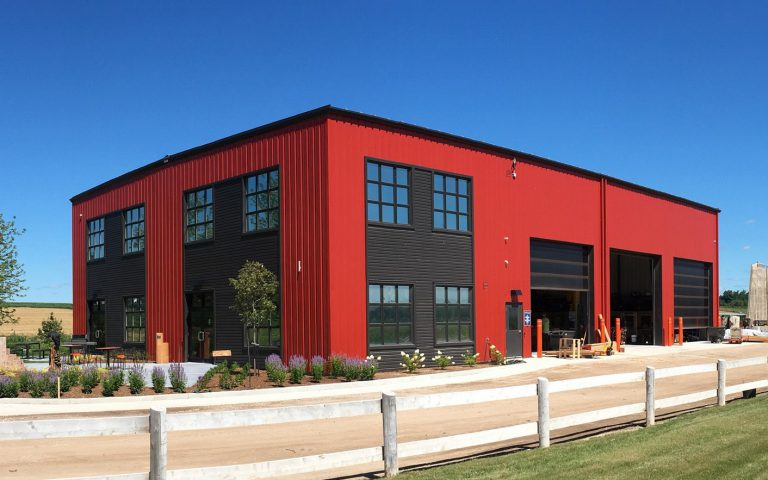 Photo of the exterior of the Earthscape office