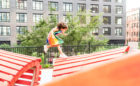 11 Hoyt Brooklyn NY butterfly climbing sculpture girl climbing