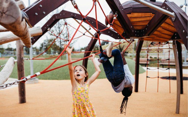 Oklahoma City Scissortail Park Spider sculpture playground