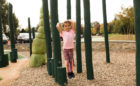 Carroll Joyner park natural logs wood playground steppers worm sculpture