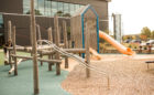 Carrol Joyner park playground natural log jam climber tower slides