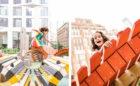 childrens playground New York wood climber jumping nets