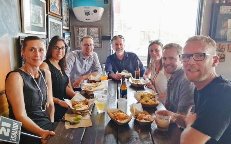 Earthscape staff in San Diego at ASLA for taco time