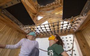GDS hoppers private school Washington DC interior rope net play climbing