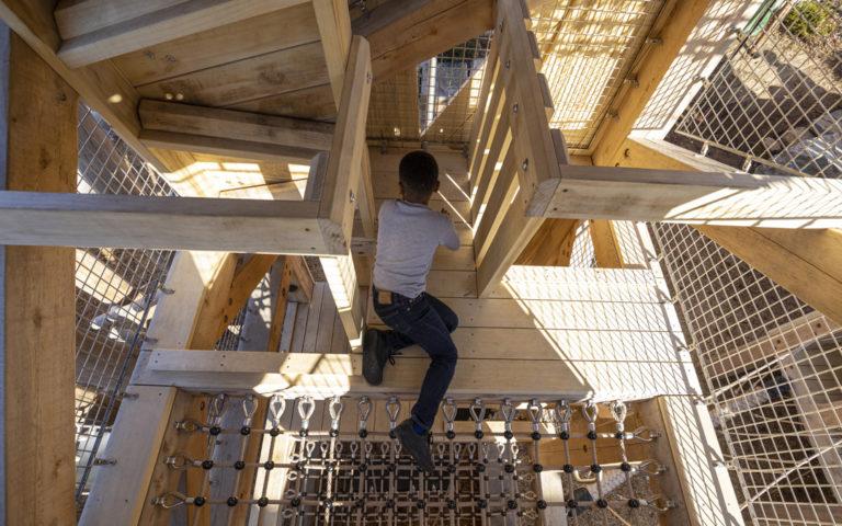 GDS Washington DC private school adventure tower net floor playground
