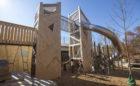 GDS Washington DC private school natural wood playground towers bridge climbing