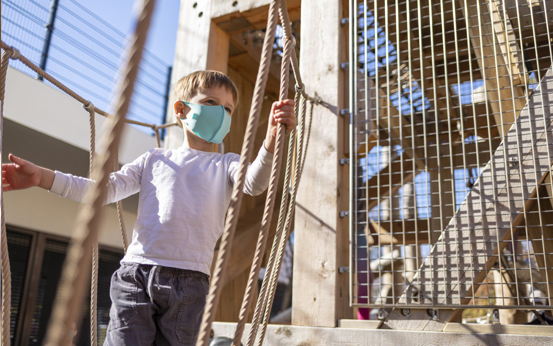 Georgetown Day School rope bridge senior tower climbing