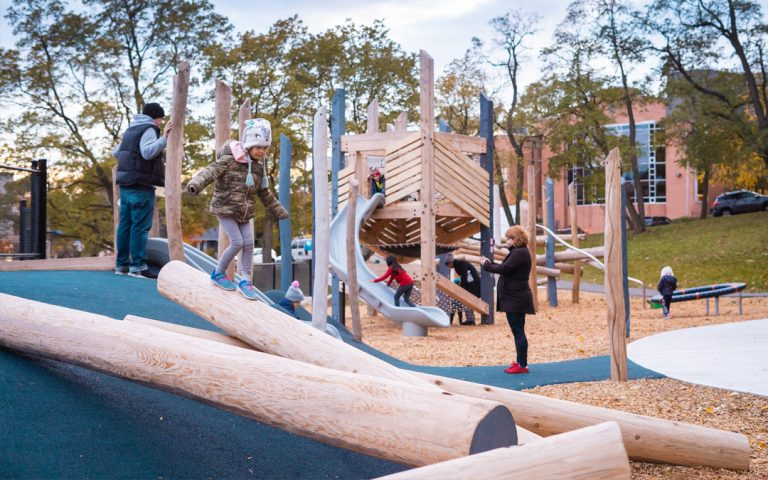 toronto-natural-wood-playground-log-climbers-hill-play-towers-nets-slides