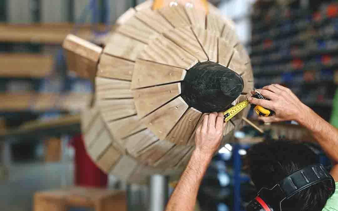 custom scissortail bird sculpture fabrication wood playground texas