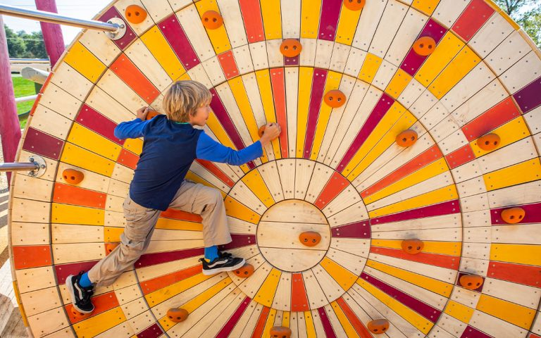 wood playgrounds and vandalism colourful wood climber custom playground