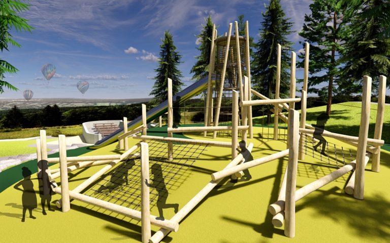 natural playground san francisco mclaren custom log climber tower net climbing high challenge