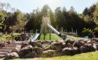 Redwood Grove adventure playground San Francisco park log climber nets