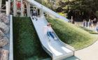 Redwood Grove California natural adventure playground slides logs