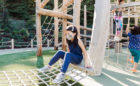 Redwood Grove park playground natural wood equipment net hammock tower climbing